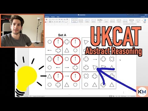 UKCAT (UCAT) ABSTRACT REASONING: Find the pattern every time 2019 | KharmaMedic