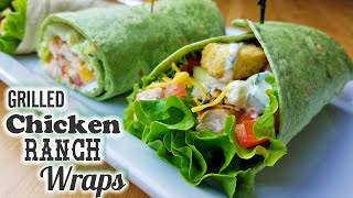 Grilled Chicken Ranch Wraps