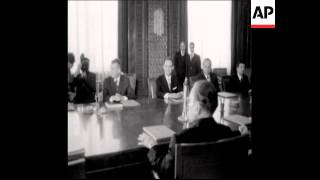 UPITN 10 07 74 PRESIDENT CEAUSESCU MEETS PRESIDENT TITO