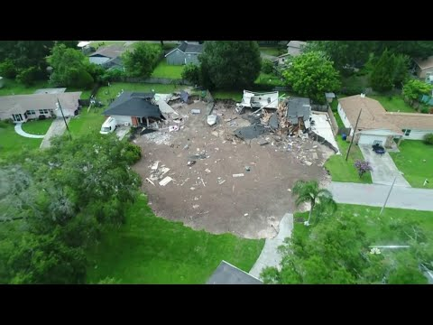 Sinkhole Rapidly Grows, Swallows Central Florida Homes