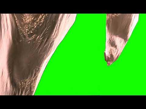 FREE HD Green Screen - BLOWING SATIN MATERIAL DRAPES