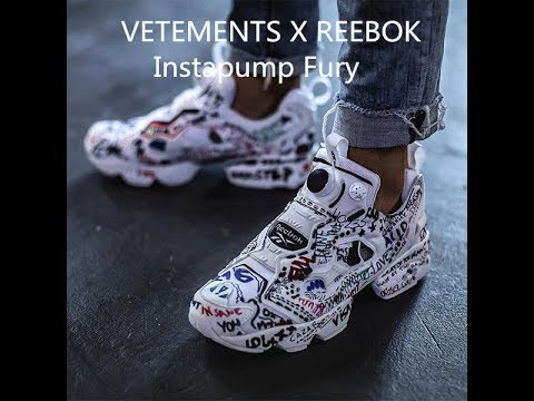 00fbefd3718 VETEMENTS X REEBOK Instapump Fury DIY HD Review from yeezybaykicks ...