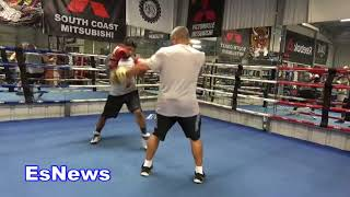 ((FAIL))  Robert Garcia Twin Tried To Jack Abner Mares Jacket Almost Got Away With It EsNews Boxing