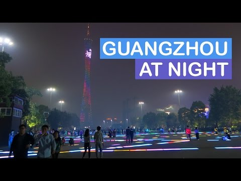 Night Walk around Guangzhou 广州 | CHINA VLOG