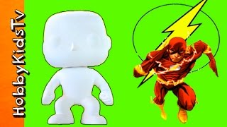 Flash Funko Pop Blank! DC Comic Arts N Crafts Fun Toy HobbykidsTV