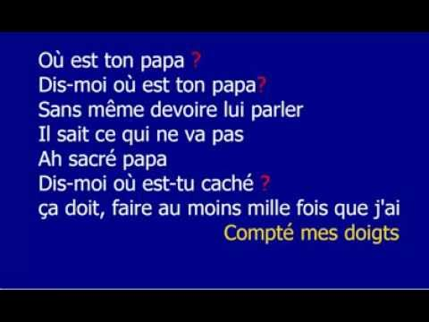 Stromae où ton papa lyrics video