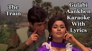 Gambar cover Gulabi Aankhen Jo Teri Dekhi Karaoke With Lyrics | The Train | Mohammed Rafi