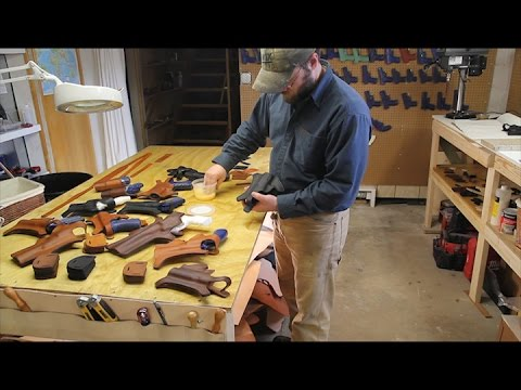 Making a Chest Holster at Clark Fork Leather