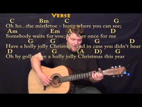 Holly Jolly Christmas - Fingerstyle Guitar Cover Lesson in G with Chords/Lyrics