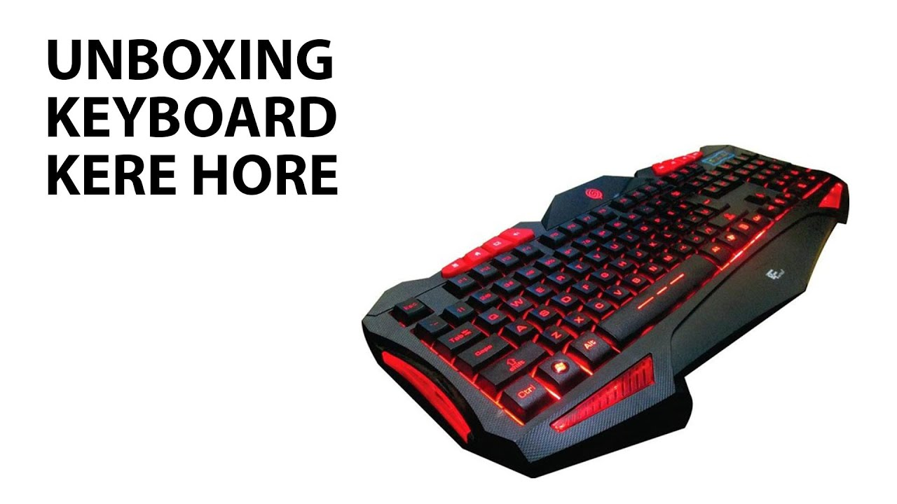 Unboxing Keyboard Rexus K7m Youtube Kx1 Backlight Semi Mechanical Gaming