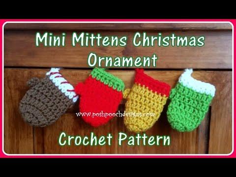 Mini Mittens Christmas Ornament Crochet Pattern