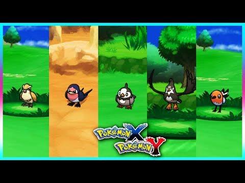 Pokemon X & Y - Pidgey,Taillow,Starly,Staravia & Fletchling Locations