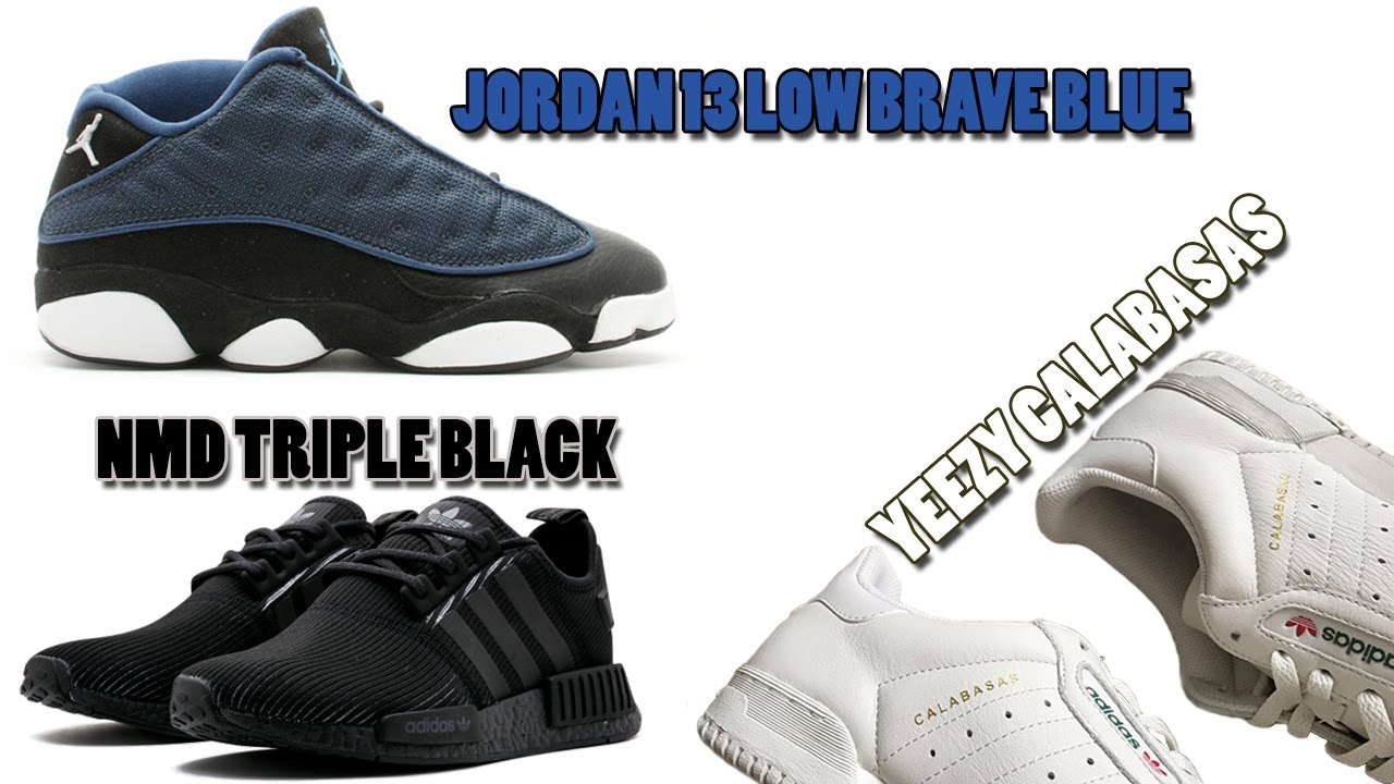 official photos 6f40e 76418 Air Jordan 13 Low Brave Blue Release Info, NMD Triple Black 3M, Yeezy  Calabasas PowerPhase and More