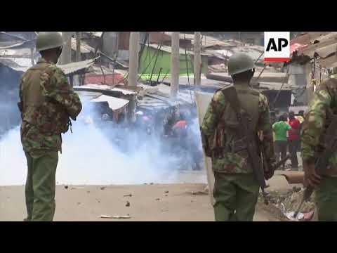 Kenya - Police fire tear gas at Kenya election protesters / Kenya supreme court overturns president'
