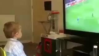 Video 187   Dünyanın en tatlı gol sevinci😄