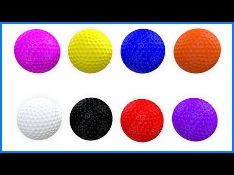 Learn Colors With Balls | Colours For Kids And Children | Learning & Education For Toddlers & Babies