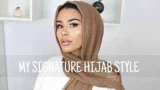 HOW I WEAR MY SIGNATURE HIJAB STYLE | HABIBA DA SILVA