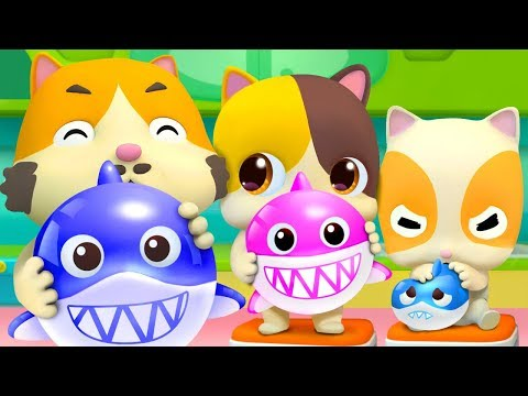 Balloon Song - Baby Shark | Colors Song | Nursery Rhymes | Kids Songs | Kids Cartoon | BabyBus