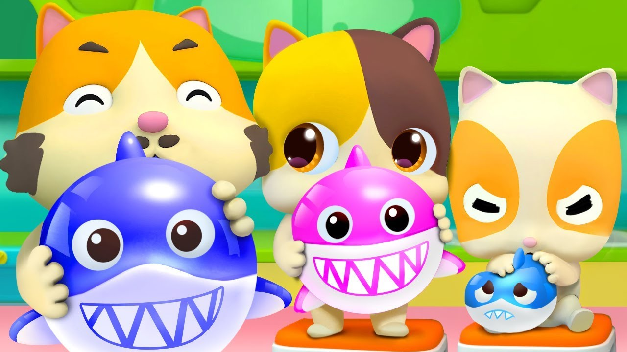 Balloon Song - Baby Shark   Colors Song   Nursery Rhymes   Kids Songs   Kids Cartoon   BabyBus