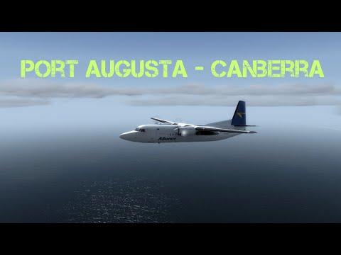 Fokker F50 Port Augusta -  Canberra (P3D)