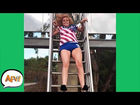 Down Slides the FAIL! 🤣   Funny Fails   AFV 2020