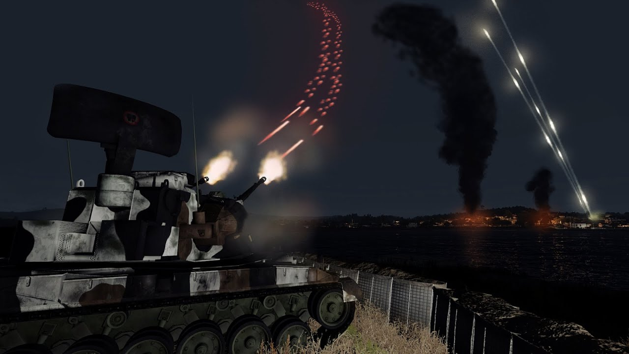 ArmA 3 - Flakpanzer Gepard in Action vs A-10 Thunderbolt II - Air Defence - Warthog - Simulation