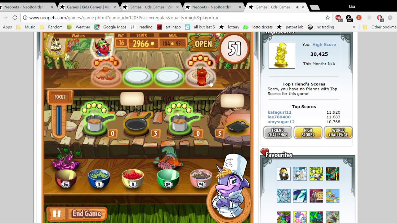 Games Kids Games Virtual Games & Pets Games for Kids Neopets Google Chrome  6 8 2018 8 42 2