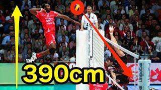 【バレーボール】鳥人間!?高く飛びすぎやろ!!390cm飛ぶ、ロベルランディ・シモンが超人すぎる!【衝撃】390 cm fly【volleyball】