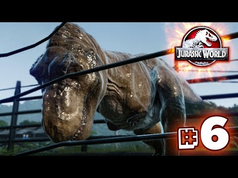 T.REX TESTS THE FENCES!!! - Jurassic World Evolution - JURASSIC MODE | Ep6 HD