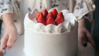 JAPANESE STRAWBERRY CAKE recipe - Cách làm BÁNH KEM DÂU kiểu Nhật