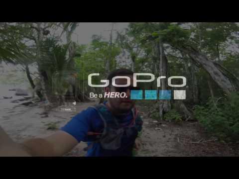 Corriendo en Isla Carenero, Bocas del Toro, Panama