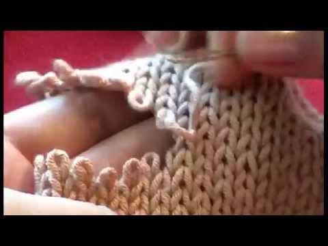 Трикотажный шов в вязании спицами видео