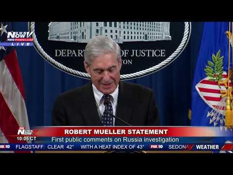 MUELLER STATEMENT: Robert Mueller Speaks On Russia Investigation