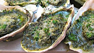 The Best Oysters Rockefeller - Cleaning, Shucking and the Recipe - PoorMansGourmet