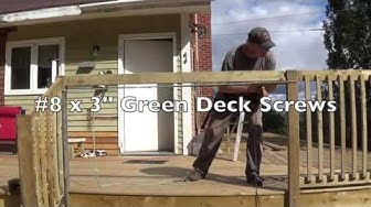 DIY Deck Part 12 - Attaching Railing & Balusters