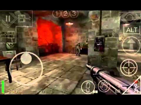 Android Games!#44 Return To Castle Wolfenstein RTCW4A Samsung Galaxy SII  (S2)
