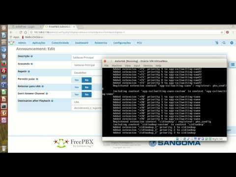 Criando URA IVR no Asterisk com Interface FreePBX
