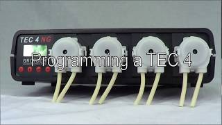 Programming of a Grotech TEC 4 NG 4-channel dosing pump / English version