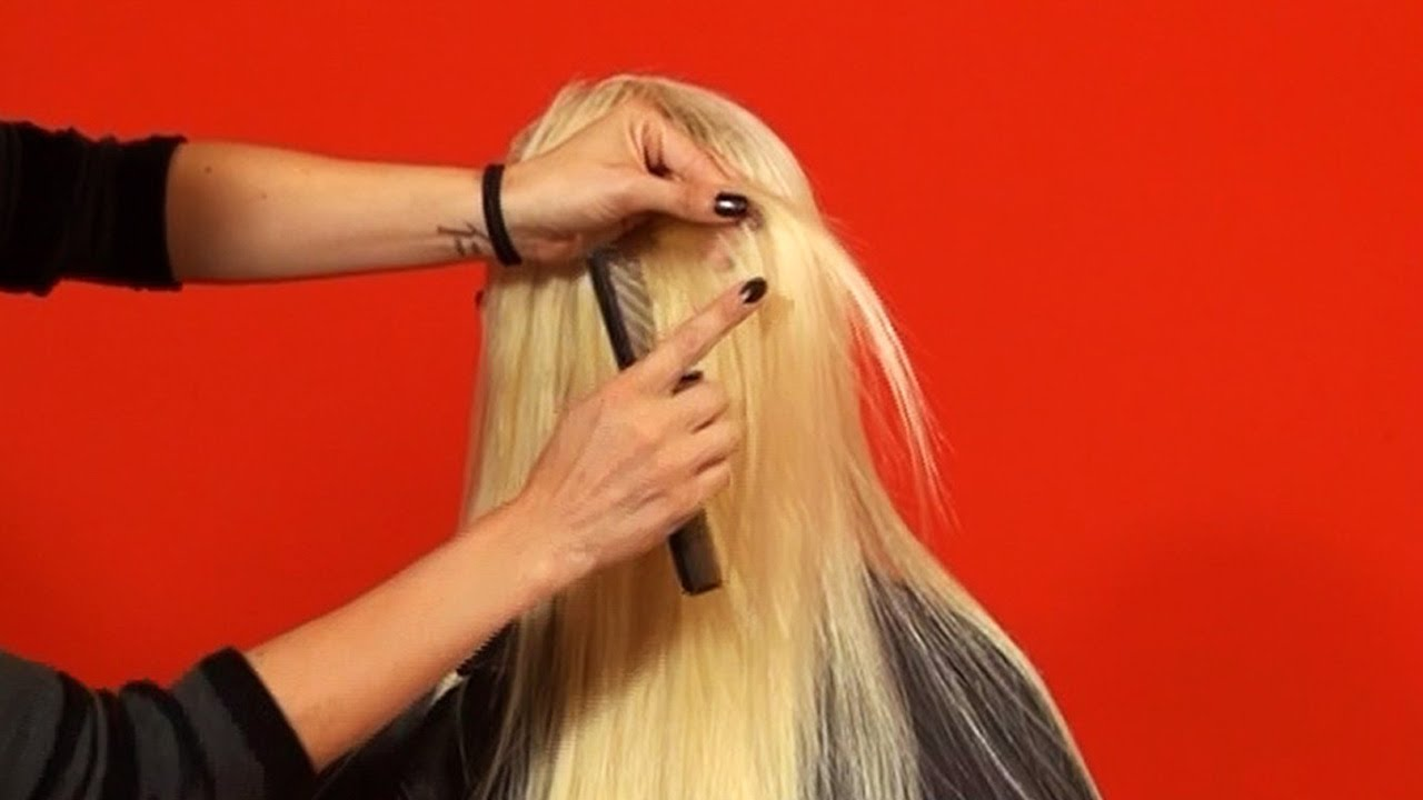 How To Cut Layers Into Human Hair Extensions Tutorial Doctoredlocks