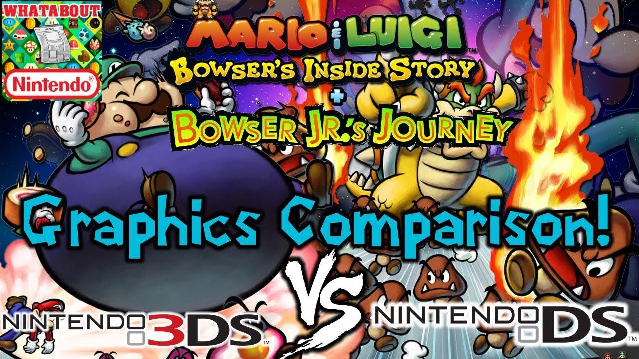 Graphics Comparison Mario And Luigi Bowser S Inside Story Ds Vs 3ds