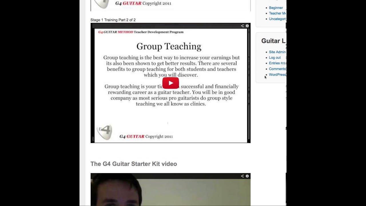 G4 Guitar Teacher Training Overview Youtube