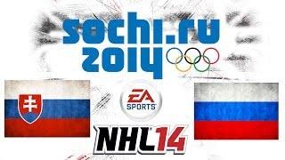 Český Let´s play | NHL 14 | ZOH 2014 | SVK - RUS | Xbox 360