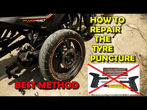 How to Fix Tire Puncture||Best Method|| Saving the life of the tire|