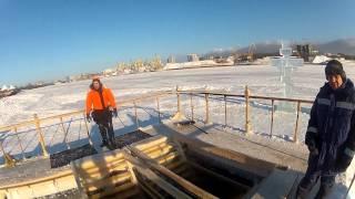 GoPro Купание в проруби   ice hole swimming Russia