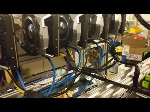 10 GPU Mining Rig With Nvidia 1070 TI Founder Edition Cards Hashing Pirl Coin + Digibyte