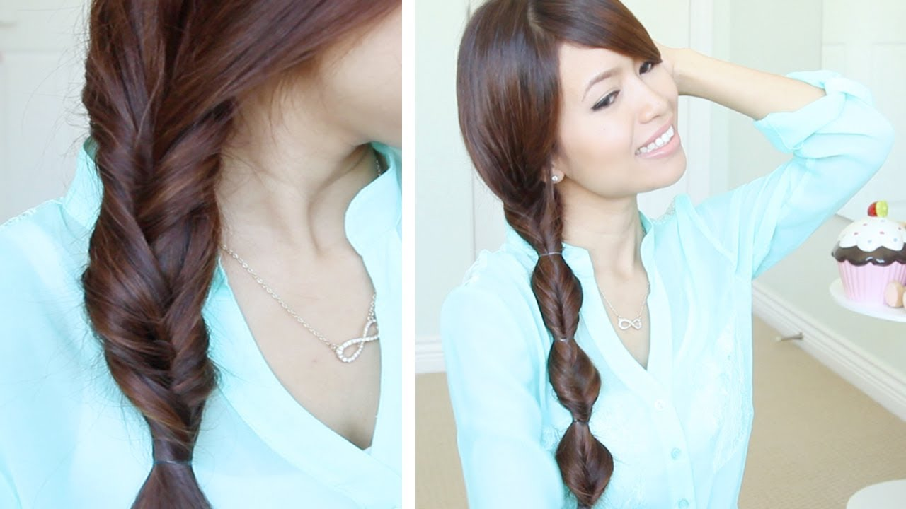 quick & easy faux braid hairstyles for medium long hair tutorial