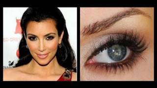 kim kardashian makeup dramatic bronze smokey eye