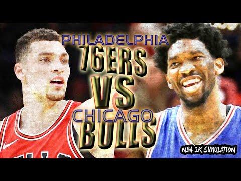 Philadelphia 76ers vs Chicago Bulls   FULL GAME   Feb 22   NBA 2K18