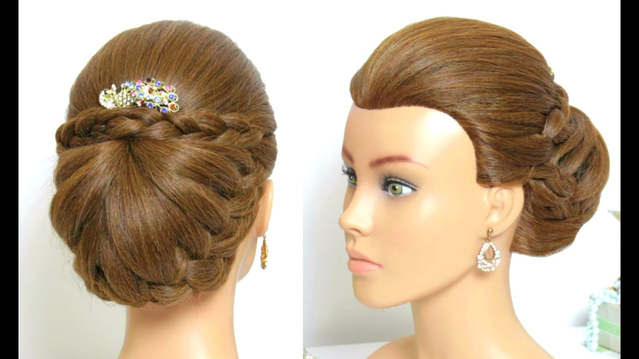 Hair Styles For Summer: Beautiful Bridal Hairstyle For Long Hair Tutorial. Braided