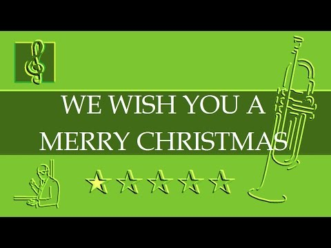 Trumpet notes tutorial - We wish you a merry Christmas (Sheet music)